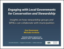 Engaging with Local Governments for Conservation and Stewardship