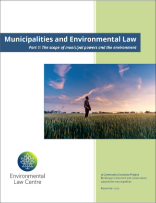 The Scope of Municipal Powers and the Environment